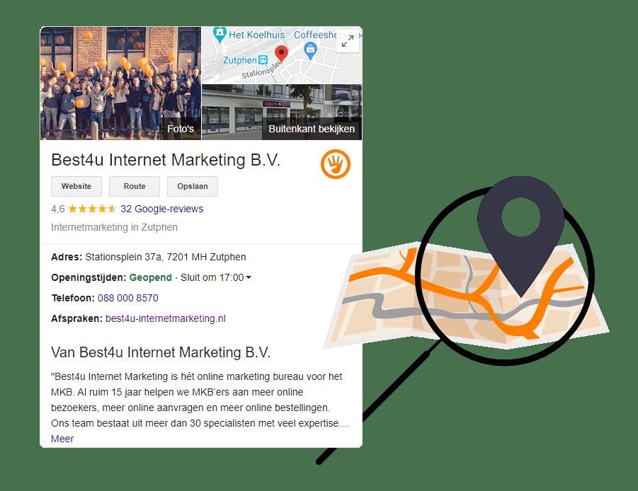 lokale SEO via Google Mijn Bedrijf