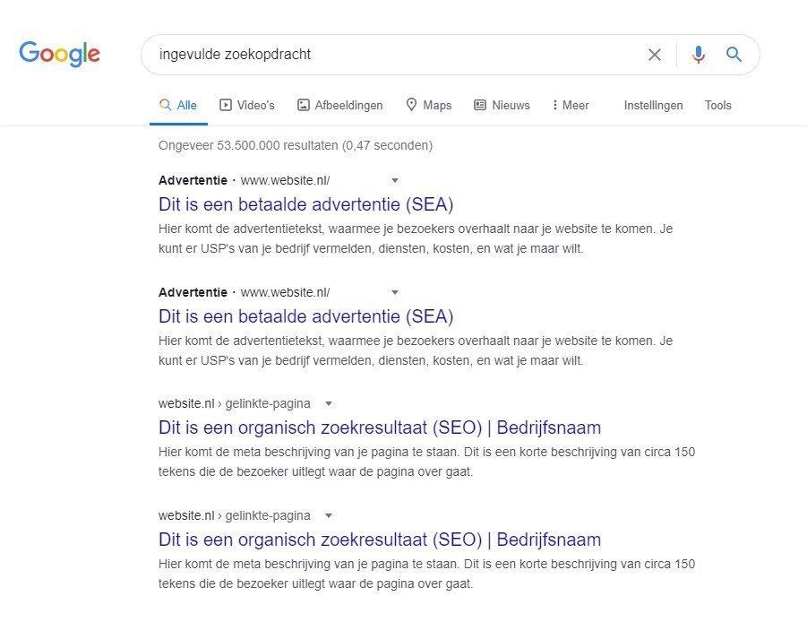 verschil zoekmachine optimalisatie en adverteren